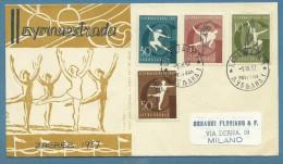 SPORT GINNASTICA -  GIOCHI DI AGREB ZAGABRIA 1957  - DA LUBIANA A MILANO - Other Collections