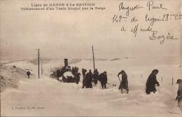 Ligne De MENDE à La BASTIDE - Déblaiement D'un Train Bloqué Par La Neige 1916 TBE 2 Scans - France