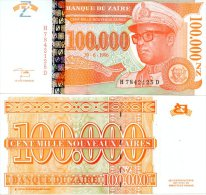 ZAIRE 100,000 N.Zaires 30-6-1996 P-77 **UNC** - Zaire