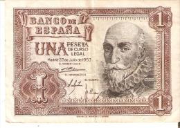BILLETE DE 1 PTA DEL 22/07/1953 SERIE 1A CALIDAD BC  (BANKNOTE) - [ 3] 1936-1975 : Régimen De Franco