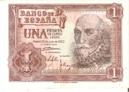 BILLETE DE 1 PTA DEL 22/07/1953 SERIE S SIN CIRCULAR-UNCIRCULATED  (BANKNOTE) COLOR ROJIZO - [ 3] 1936-1975 : Régimen De Franco