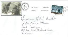 FRANCE.CENTENAIRE PREMIÈRE GUERRE MONDIALE,  Timbre Adhésif Sur Lettre Adressée En Andorre - WW1