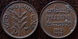 (J) PALESTINE: 2 Mils 1942 XF (1796) - Autres – Asie