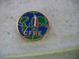 Pin´s Du FN (Front National). CFRE ( Cercle National Des Francais Résidant à L'Etranger) - Administrations