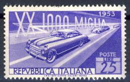 Mille Miglia - 1953 - 25 Lire Violetto (Sassone 707) MNH** - 6. 1946-.. Repubblica