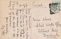 POSTAL HISTORY -1905 SQUARED CIRCLE - DARLINGTON - Postmark Collection