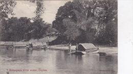 CEYLON - RATUAPURA RIVER SCENE - Sri Lanka (Ceylon)