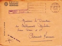 27 02 1959 - Devant De Lettre - BOURG EN BRESSE - Circuit Motocycliste, 1er Dimanche De Mai - C - Sellados Mecánicos (Publicitario)