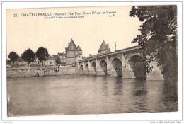 E314 86 CHATELLERAULT LE PONT HENRI IV SUR LA VIENNE 1923 Timbre Cachet - Chatellerault