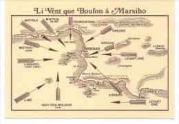 LES VENTS QUI SOUFFLENT SUR LA COTE MARSEILLAISE D´APRES UN ARMANA MARSIHES DE 1892  SUPERBE - Unclassified