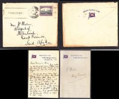 1931 WINDSOR CASTLE, UNION CASTLE LINE,cover CAPETOWN PAQUEBOT + Contents - Covers & Documents