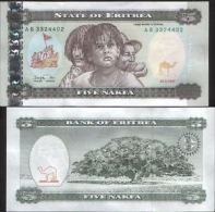 ERITREA 5 NAKFA 1997 UNC FDS AFRICA - Erythrée