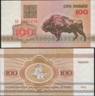 BIELORUSSIA BELARUS 100 RUBLES 1992 FDS UNC - Belarus