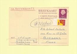 Carte Transportee Par Train - Vignette 45 Cent NS - 18 Mars 1969 - Period 1949-1980 (Juliana)