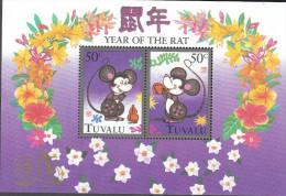 TUVALU, 1996 YEAR OF THE RAT MINISHEET MNH - Tuvalu