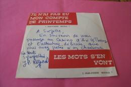 Jean Pierre Reginal   °  Je N'ai Pas Eu Mon Compte De Printemps  ° Autographe - Autographes