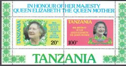 TANZANIA, 1985 QUEEN MOTHER MINISHEET MNH - Tanzania (1964-...)