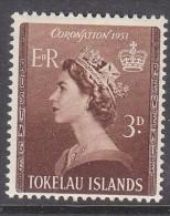 TOKELAU, 1953 CORONATION 1 MH - Tokelau