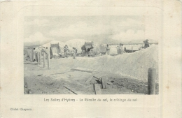 RARE LES SALINS D´HYERES LA RECOLTE DU SEL LE CRIBLAGE DU SEL - France