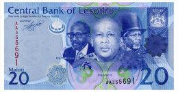 LESOTHO 20 MALOTI 2010 Pick 22 Unc - Lesotho