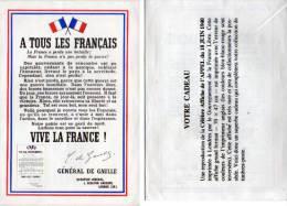 Reproduction De L' Affiche De L' Appel Du 18 Juin 1940 Par Le Général De Gaulle(68963) - Afiches