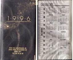Agenda Avec Calendrier 1996 Et 1997- Jean Blachère - APT (Vse) Rehaussé Or  (68964) - Non Classés
