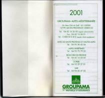 Agenda De Poche  Avec Calendrier 2001 Et 2002 - Groupama Alpes Médirerranée ... (68966) - Non Classés