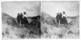 S0122 - PARIS-Plage - Dans Les Dunes - Famille Debeux - 1910 - Photos Stéréoscopiques