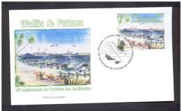 WALLIS ET FUTUNA 2012. 6 ENVELOPPE PREMIER JOUR. 70 ANNIVERSAIRE DE L´ARRIVÉE DES AMERICAINS - Wallis Y Futuna