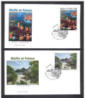 WALLIS ET FUTUNA 2012. ENVELOPPE PREMIER JOUR. DEUX ENVELOPPES PAYSAGES - Wallis Y Futuna