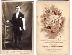 Photo Ancienne CDV - Communiant - Photographe A. Grenet   - Charenton   (68984) - Personnes Anonymes