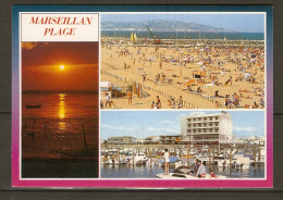 MARSEILLAN  Plage    -    Plage   /  Coucher De Soleil. - Marseillan
