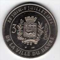 3 Euro Du Havre : 25 Juin - 9 Juillet 1996 : Monnaie De Paris : Pont De Normandie - Euros Of The Cities