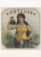 Cp , PUBLICITÉ , Phyllis: European Cigar Box Top Label. C. 1890 - Advertising
