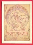 144663 / USA  Czech France Art Alphonse Maria Mucha - AU QUARTIER LATIN 1897 , WOMAN HAT - Mucha, Alphonse