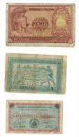 Chambre De Commerce De Lure 50 Centimes - Repubblica Italiana Biglietto Di Stato 100 Lire - 1917-1919 Army Treasury T... - 1917-1919 Tesoreria Delle Armate