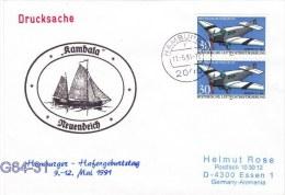 Kambala Nuendeich - Hamburger Hafengeburtstag Posted Hamburg 1991 (G64-31) - Ships