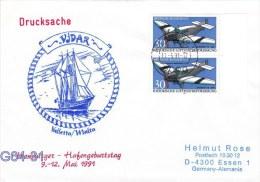 Vidar From Valetta Malta - Hamburger Hafengeburtstag Posted Hamburg 1991 (G64-31) - Ships