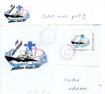 FS VENTOSE - TIMBRE PERSONNALISE - VOEUX 2012 - OBL F. DE FRANCE 311211- TRES PEU D'EXEMPLAIRES- AVEC BRISTOL ASSORTI - Poste Navale