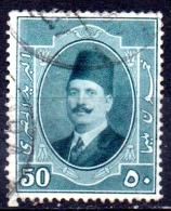 EGYPT 1923 King Fuad I  - 50m. - Green   FU - Usati