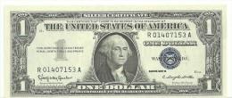 USA $1 Silver Series 1957B Fr1621 UNC (handling Mark) - Silver Certificates (1928-1957)