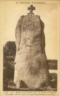 Menhir De Saint Duzec, Entre L´Ile Grande Et Trébeurden Très Bon Etat - Dolmen & Menhirs