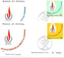 2 Plis Du 10 / 12 / 1978   (( 30° Anniversaire Des DROITS De L'HOMME )) - Covers & Documents