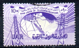 EGYPT 1959 Arab Telecommunications Union Commemoration - 10m Telecommunications  FU - Usati