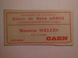T165 / étiquette De Colis Du Fromager René LANOS à SAINTE MARGUERITE DE VIETTE - Calvados - Fromages De Livarots - Blotters