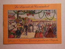T166 / Fascicule De 4 Pages : LA LEGENDE DU CAMEMBERT L' Histoire De Marie Harel - Buvards, Protège-cahiers Illustrés