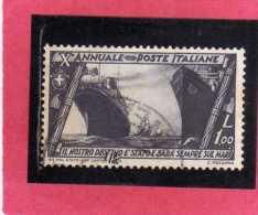 ITALIA REGNO ITALY KINGDOM 1932 DECENNALE MARCIA SU ROMA DECENNIAL MARCH ON ROME LIRE 1 USATO USED - 1900-44 Victor Emmanuel III