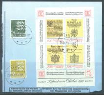 DENMARK - USED/OBLIT. - 1985 - HAFNIA 87  - Mi BLOCK 4 Yv BLOC 5   -  Lot 9965 - Blokken & Velletjes