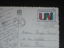 LETTRE NATIONS UNIES ONU UNITED NATIONS AVEC YT PA 18 - CPM STATUE DE LA LIBERTE NEW YORK - - Lettres & Documents