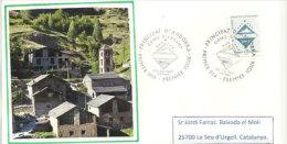 ANDORRE. Armoirie De La Commune D´Encamp, Emission De 1997, Sur Lettre Adressée En Catalogne - Andorre Français